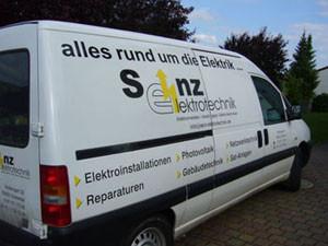 Firmenwagen von Senz Elektrotechnik