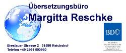 Übersetzungen vom Übersetzungsbüro Reschke