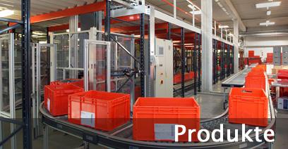 Lagertechnik - Regale und Rollbahn-Module