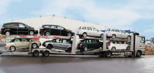 moderne und  gut ausgestattete Autotransportzüge