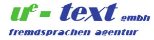 Logo der ue-text GmbH